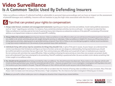 6 Surveillance Tips To Protect Your Rights To Compansation