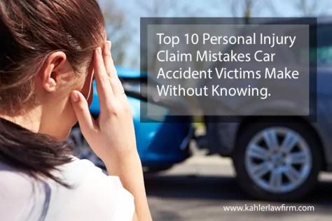 personal injury claim mistakes