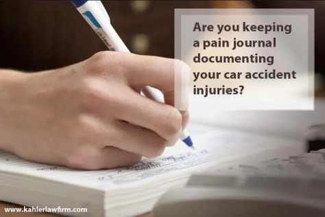 car accident pain journal