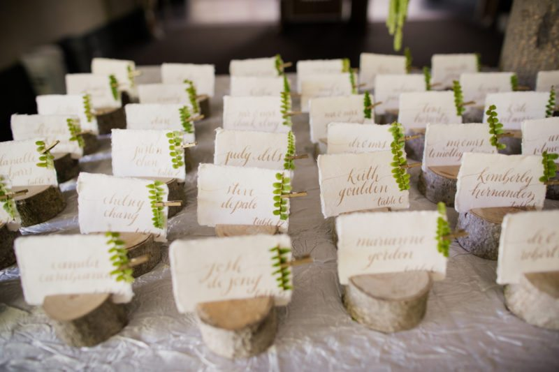 Escort Card  Board Examples  Kahns Catering