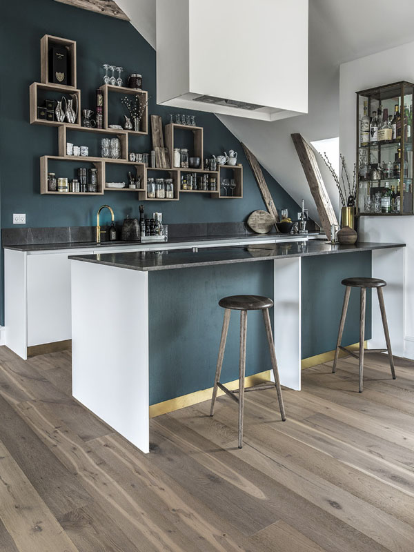 Wood floors with different shades of gray  Khrs