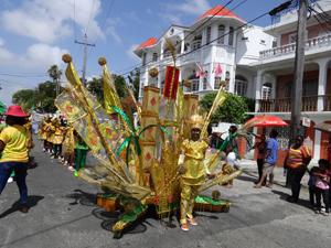 This costume depicts the legend of El Dorado