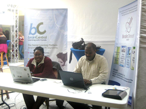 Participating in a Virtual Education trade show in Suriname.