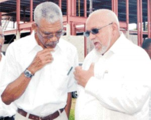 President David Granger and former President Donald Ramotar.