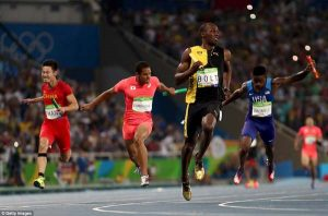 The Jamaican won the 100m and 200m events at Rio prior to victory in the relay event with his Jamaica team-mates. (Getty Images)
