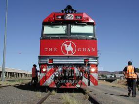 ザガンの機関車を正面から