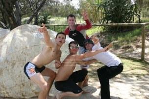 オーストラリアの陽気な4人の若者たち