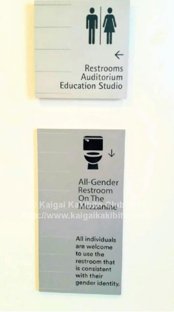 アメリカの「ジェンダーフリー」のトイレのサイン