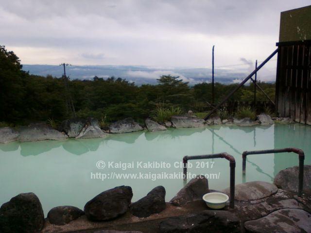 那須高雄おおるり山荘の露天風呂