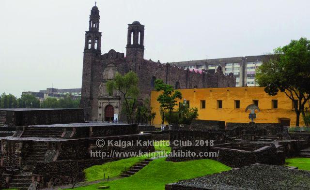 メキシコのトラテロルコ遺跡