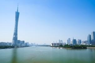 広州の象徴、広州タワーと珠江