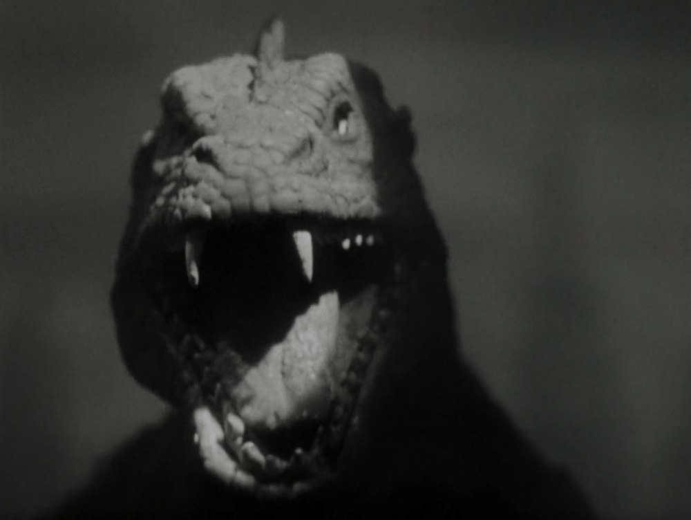 The Beast from 20,000 Fathoms seconds before eating the diving bell.