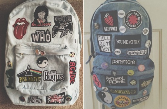 Patches Bag-bolsa bordada+tumblr+punk+rock+maniasdelolitta