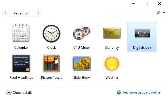Digital Clock Desktop Gadgets