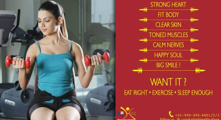 Eat Right, Exercise & Sleep Enough for Complete Healthy Lifestyle