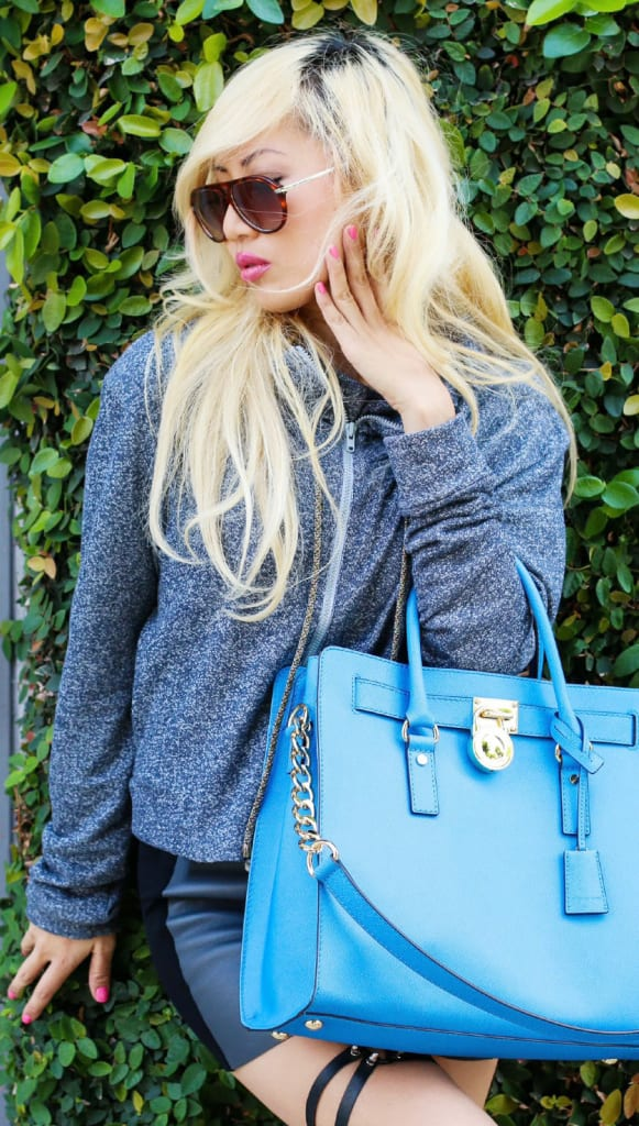 Michael Kors Blue Purse 2