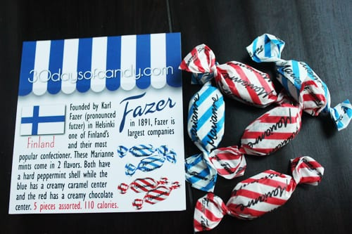 30 days of candy - Fazer Finland