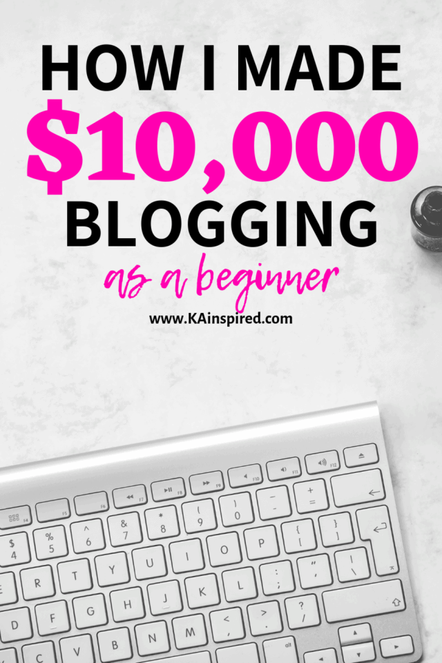 how I made 10,000 blogging as beginner