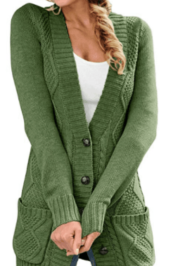 COMFY SWEATER FOR FALL - open front cable knit cardigan