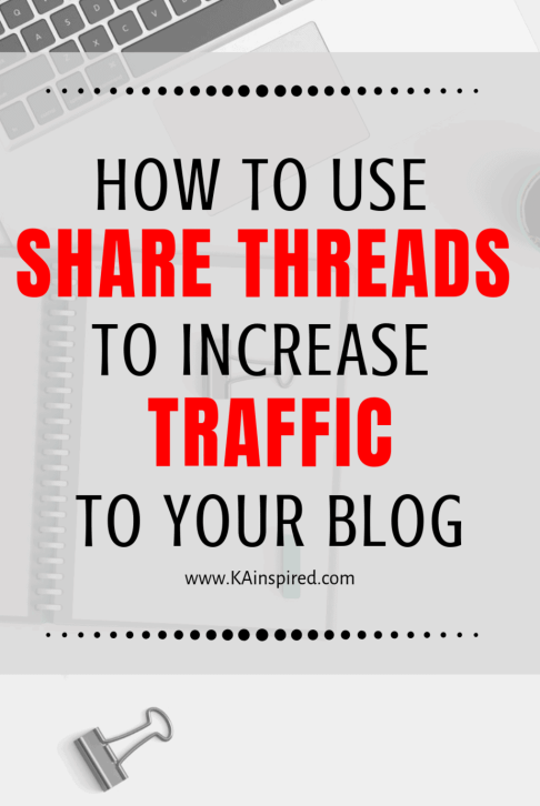 how to use share threads to drive traffic to your blog