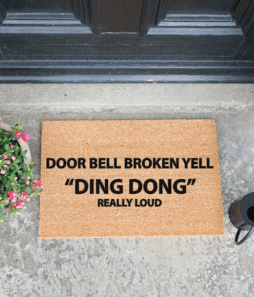Doorbell Broken Yell Ding Dong Really Loud