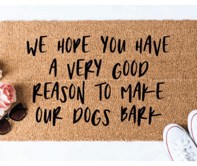 We hope you have a very good reason to make out dogs bark