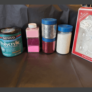 supplies to make glitter ornaments