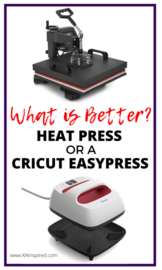 What is better - a heat press or a cricut easy press