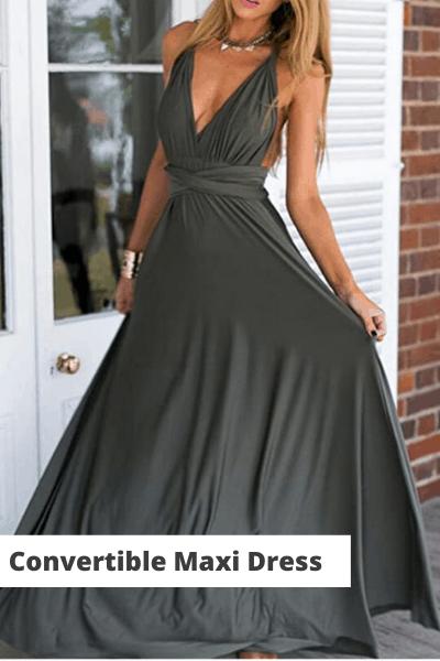 convertible maxi dress | summer dress