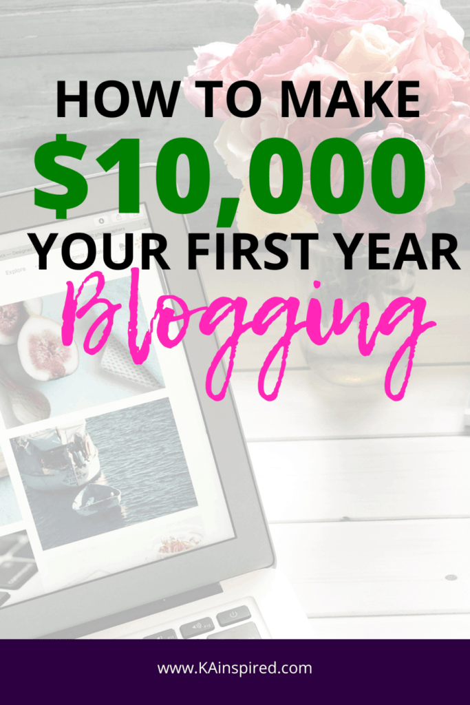 how to make 10,000 your first year blogging