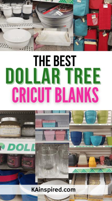 THE BEST DOLLAR TREE CRICUT BLANKS
