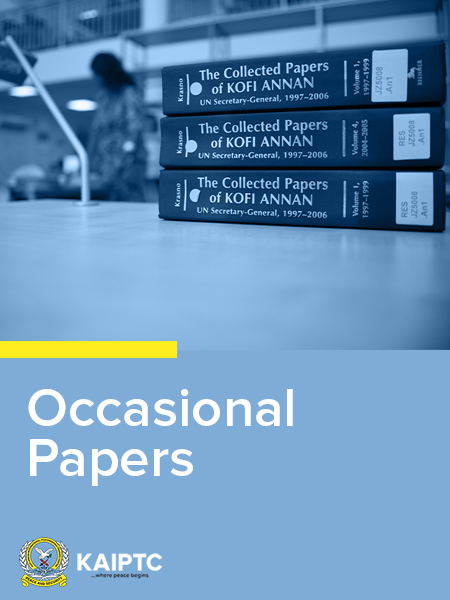 Ideas of occasional paper...?