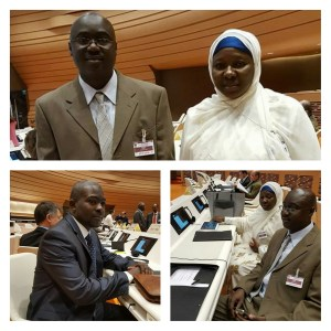 Jainaba Bah, Suntou Touray and Yahya Darboe represented UDP at SI meeting