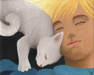 Kauniit uneksijat. Öljyvärimaalaus kankaalle, 2013.