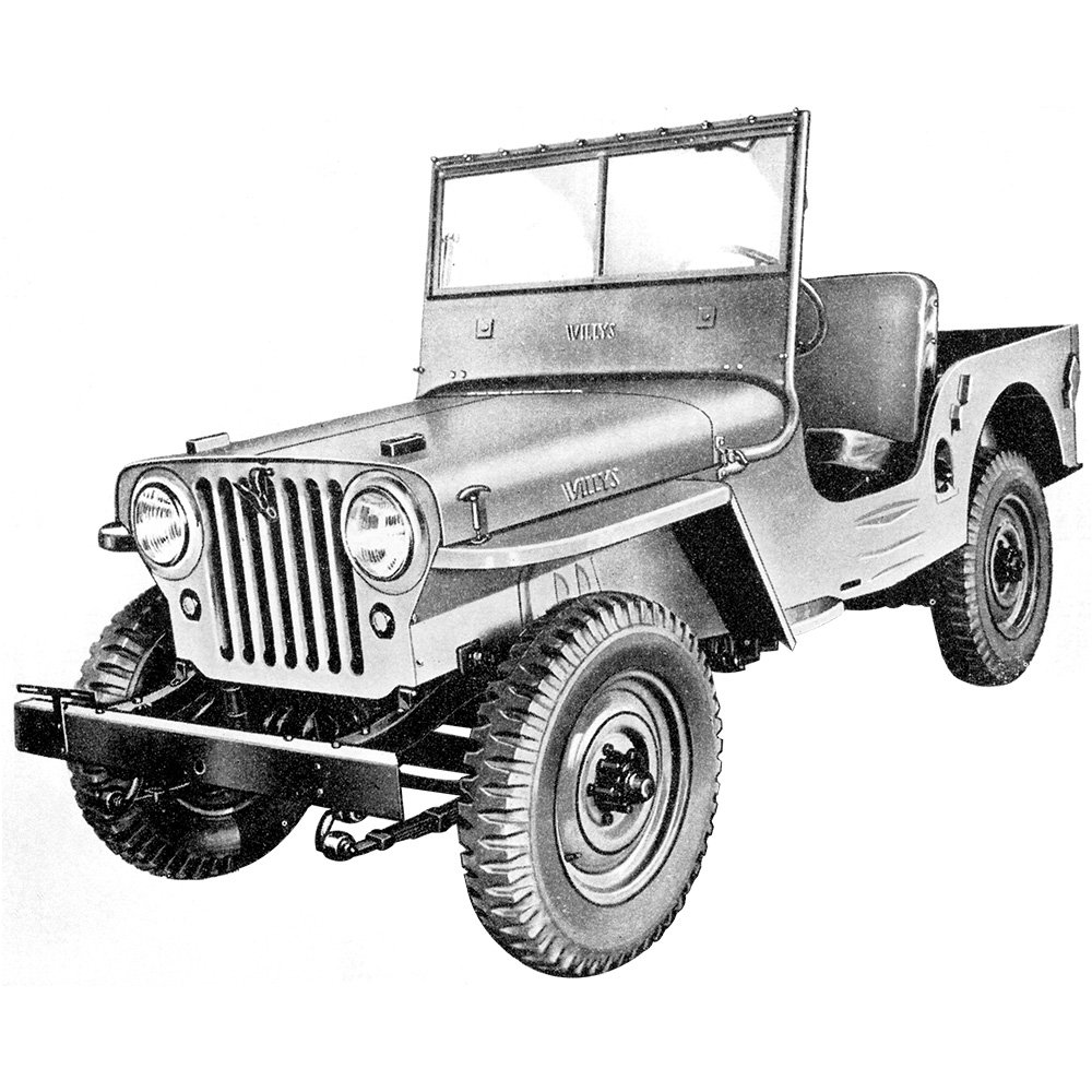 hight resolution of illustration willys cj 2a