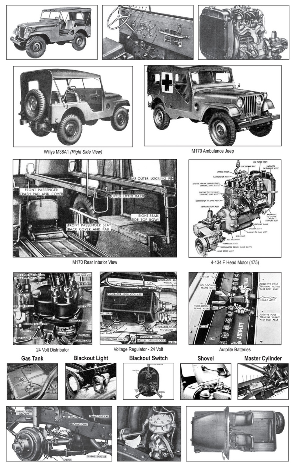 hight resolution of willys m38a1 detailed views