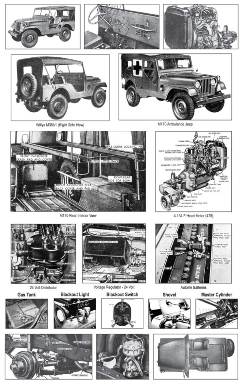 small resolution of willys m38a1 detailed views