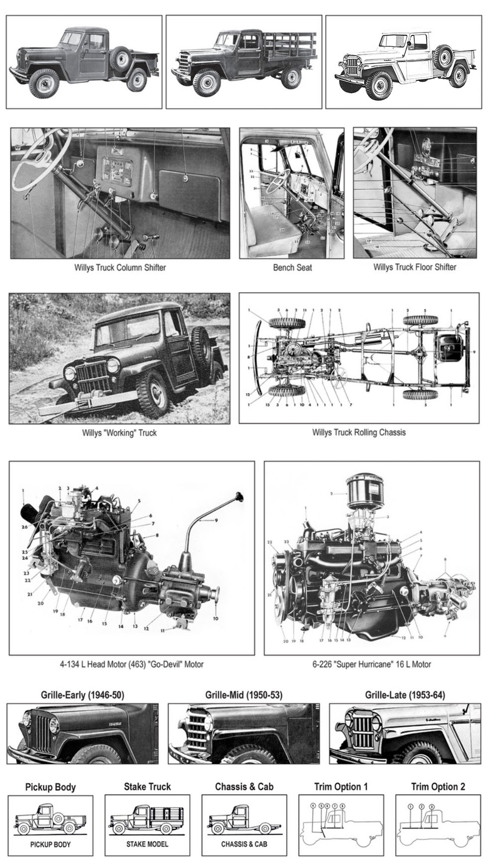 medium resolution of willys truck details