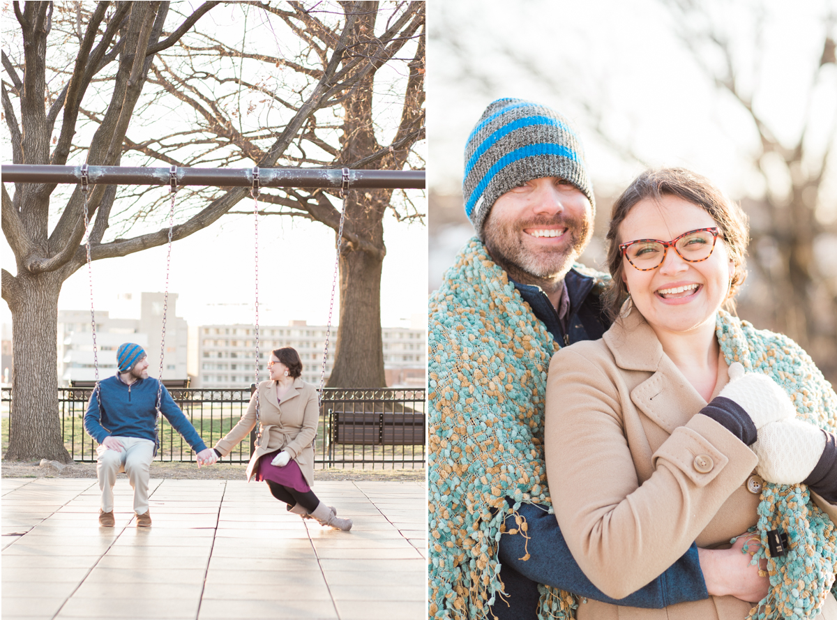 Baltimore Museum of Art Federal Hill Engagement Session