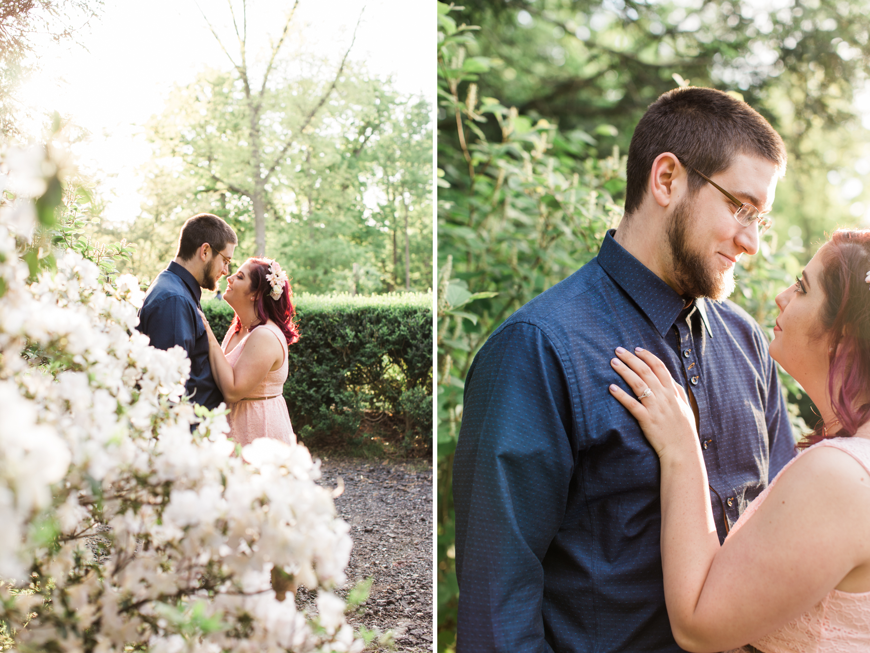 cylburn arboretum baltimore engagement session wedding photographer