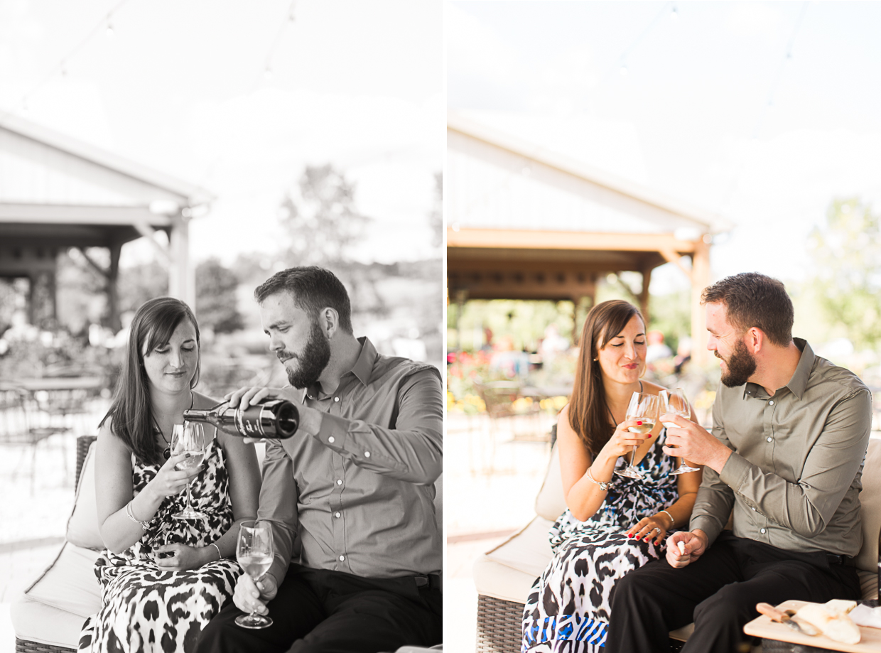 Kait Bailey Photography Old Westminster Winery Engagement Session Maryland Wedding Photographer