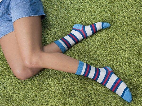 100 percent cotton socks