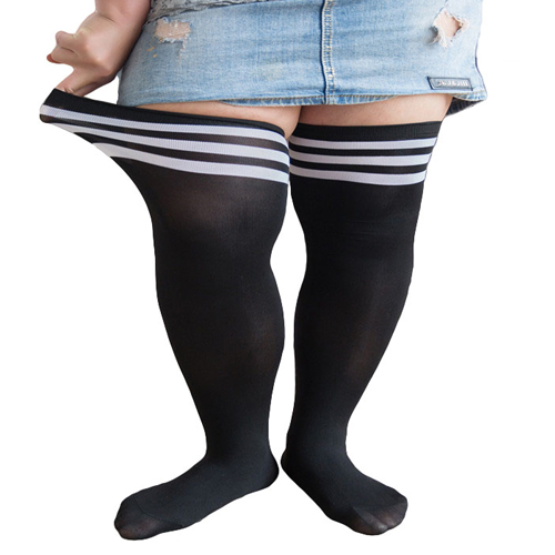 plus size thigh high socks