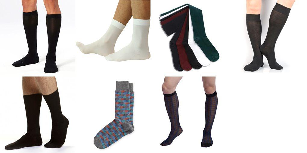 mens nylon socks