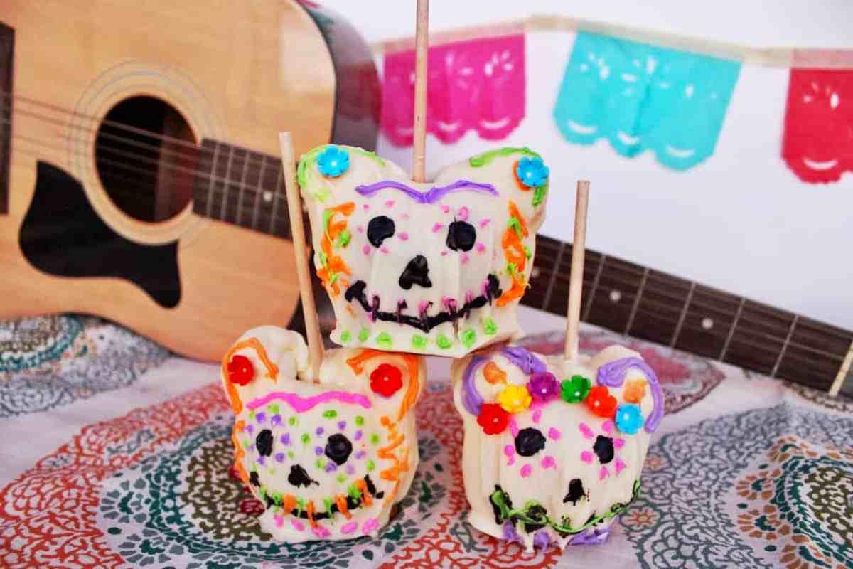 Caramel Apple Sugar Skulls | Inspired By Disney + Pixar's Coco