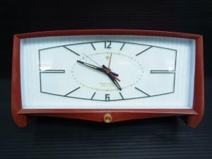 東京時計 Tokyo Clock 置き時計 オルゴール目覚まし 赤白色 中古品