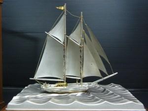 銀製品 ヨット 置物 STERLING 960 SEKI刻印 73g 中古品