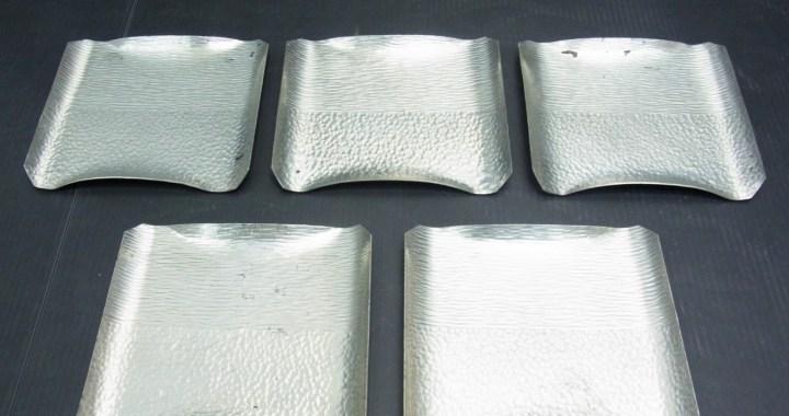 茶道具 純錫 錫半製 銘々皿 5客セット 中古品