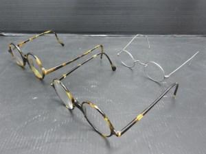 昭和レトロ 眼鏡 3点セット 鼈甲 銀縁 老眼鏡 中古品