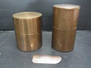 茶道具 開化堂記 銅製 茶壺 2点 茶合 1点セット 中古品
